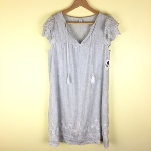 New With Tags lined linen blend dress